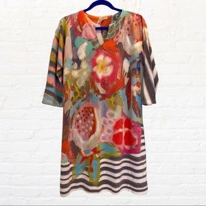 ATELIER5 M Tunic Abstract Painterly Dress